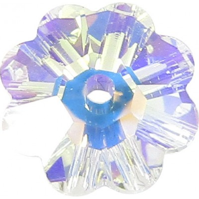 10 8mm Swarovski Crystal AB Marguerite Flower Beads Article 3700