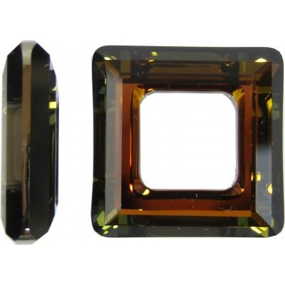 1 Swarovski Crystal 20mm Crystal Tabac Square Ring Article 4439