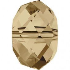 20 Swarovski Crystal Golden Shadow Rondelle Beads Article 5040