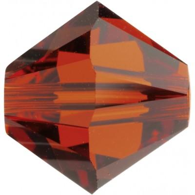 50 Indian Red Swarovski Crystal Bicone Beads Article 5301/ 5328