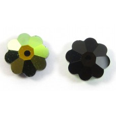 10 Jet AB Swarovski Crystal Marguerite Flower Beads Article 3700