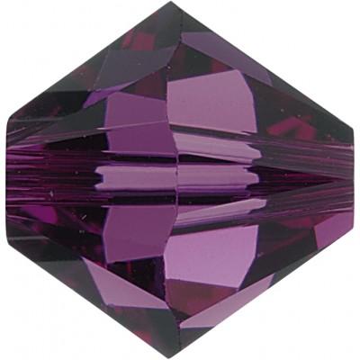 50 Swarovski Crystal Amethyst 5mm Bicone Beads Article 5301/ 5328