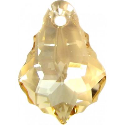 2 Swarovski Crystal Golden Shadow Baroque Pendant Drops Article 6090