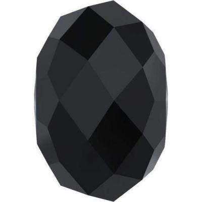 10 Swarovski Crystal 5040 Rondelle 8mm Crystal Jet Beads