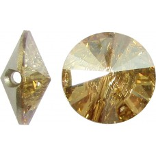 1 Swarovski Crystal Golden Shadow Foiled 12mm Button