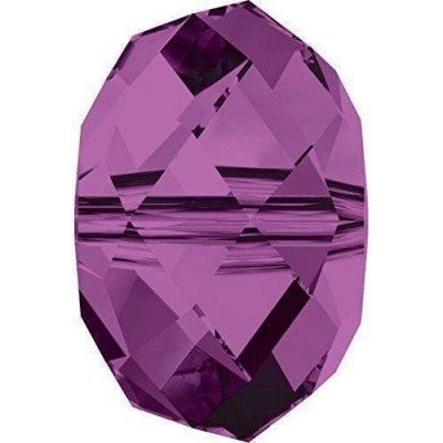 20 Swarovski Crystal 5040 Amethyst 6mm Rondelle Beads
