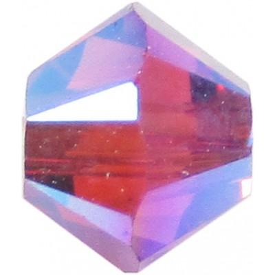 50 Swarovski Crystal 4mm Fuchsia AB 2x Bicone Beads Article 5301/ 5328