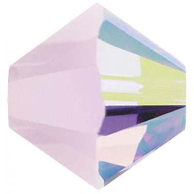 50 Swarovski Crystal 4mm Rose Alabaster AB  Bicone Beads Article 5301/ 5328