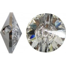 1 Swarovski Crystal 12mm Crystal Foiled Button