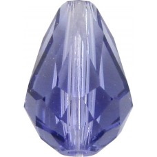 10 Swarovski Crystal 9mm Tanzanite 5500 Drop Beads