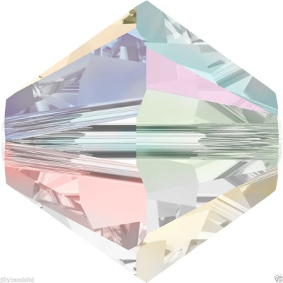50 Swarovski Crystal 4mm Crystal AB 2x Bicone Beads Article 5301/ 5328