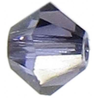 50 Swarovski Crystal Tanzanite Satin 4mm Bicone Beads Article 5301/ 5328