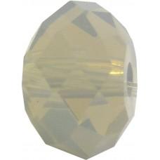 20 Swarovski Crystal Light Grey Opal 6mm Rondelle Beads Article 5040