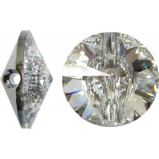 1 Swarovski Crystal 16mm Crystal Foiled Button