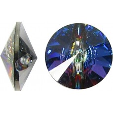 1 Swarovski Crystal Meridian Blue Foiled 12mm Button