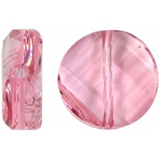 1 Swarovski Crystal Light Rose 14mm Twist Bead Article 5621