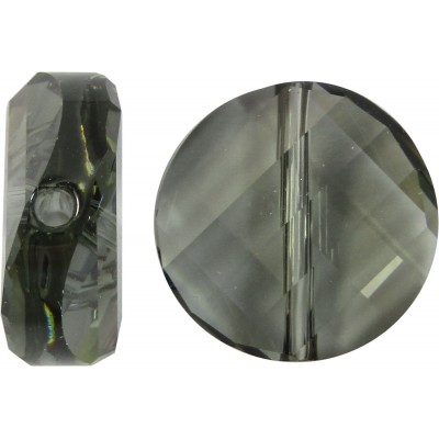 1 Swarovski Crystal Black Diamond 5621 Twist Bead