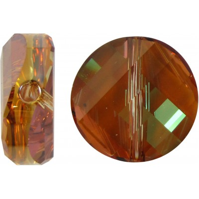 1 Swarovski Crystal Copper 5621 Twist Bead