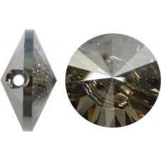 1 Swarovski Crystal Satin Foiled Button