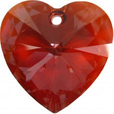 1 Swarovski Crystal Red Magma Large Heart Pendant Article 6228