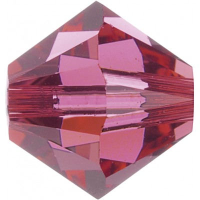 50 Swarovski Crystal 5mm Indian Pink Bicone Beads Article 5301/ 5328