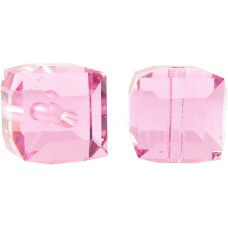 10 Swarovski Crystal Rose 6mm Cube Beads Article 5601