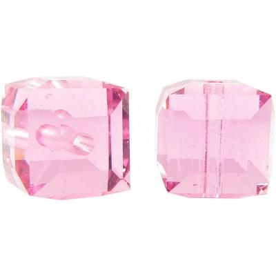 10 Swarovski Crystal Rose 6mm Cube Beads Article 5601
