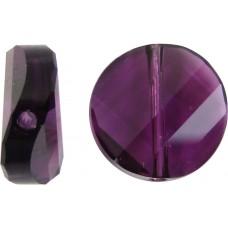 1 Swarovski Crystal Amethyst 5621 Twist Bead
