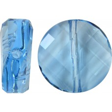 1 Swarovski Crystal Aquamarine 5621 Twist Bead