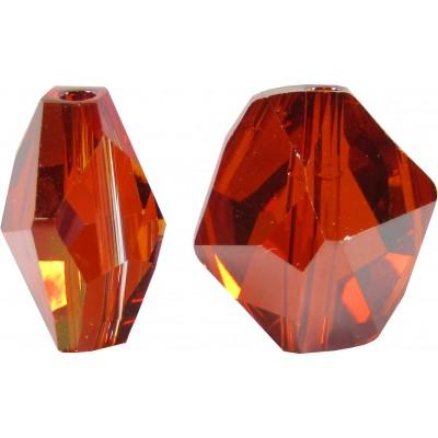 2 Swarovski Crystal Red Magma Cosmic Bead Article 5523