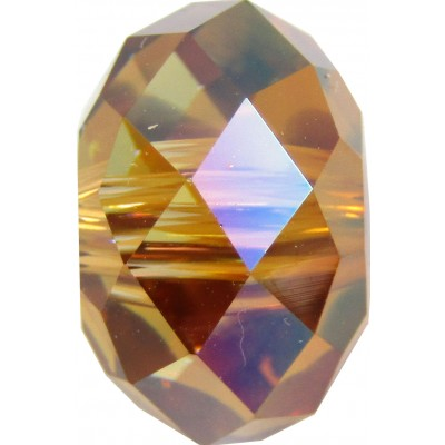 1 Swarovski Crystal Copper 12mm Large Hole Rondelle Bead Article 5041