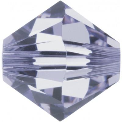 100 Swarovski Crystal 4mm Provence Lavender Bicone Beads Article 5301/ 5328