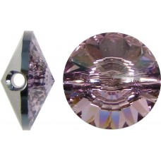 1 Swarovski Crystal Light Amethyst 12mm Button