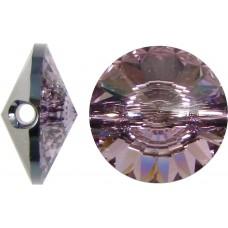 1 Swarovski Crystal Light Amethyst 12mm Button