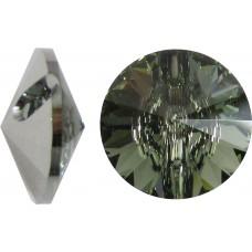 1 Swarovski Crystal Black Diamond 12mm Button