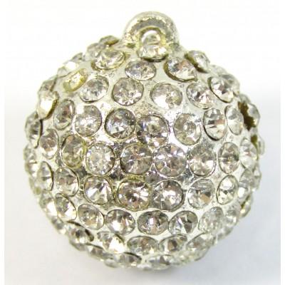 1 Silverplated Swarovski Crystal Ball with hanging loop