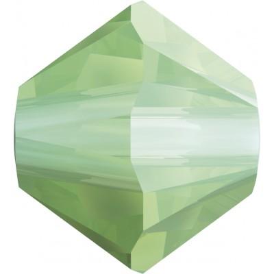 100 4mm Chrysolite Opal Swarovski Crystal Bicone Beads Article 5301/ 5328