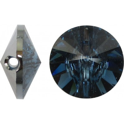 1 Swarovski Crystal Montana 12mm Button