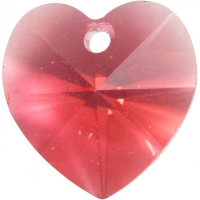 10 Swarovski Crystal Padparadscha Heart Pendants Article 6228