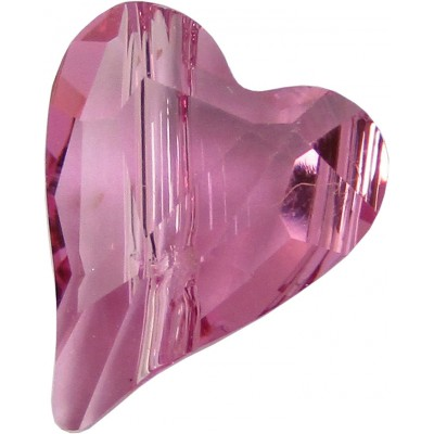 2 Swarovski Crystal Rose Wild Heart Bead Article 5743