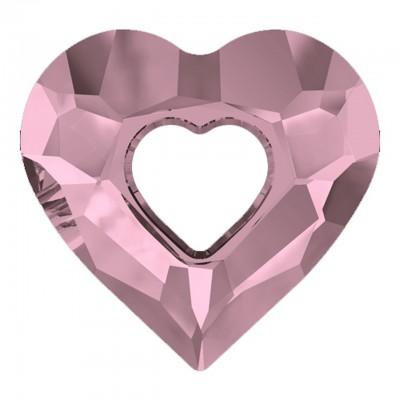 1 Swarovski Crystal Antique Pink Miss U 17mm Heart Pendant Article 6262