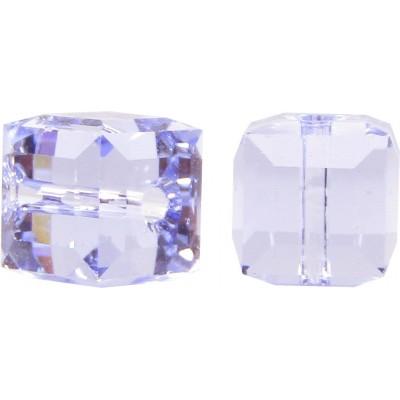10 Swarovski Crystal Provence Lavender Cube Beads Article 5601