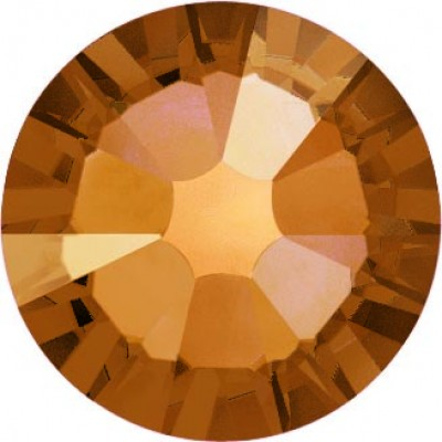 100 Swarovski Crystal Hotfix Crystal Copper SS16