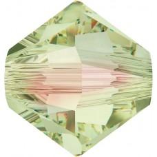 50 5mm Luminous Green Swarovski Crystal Bicone Beads Article 5301/ 5328