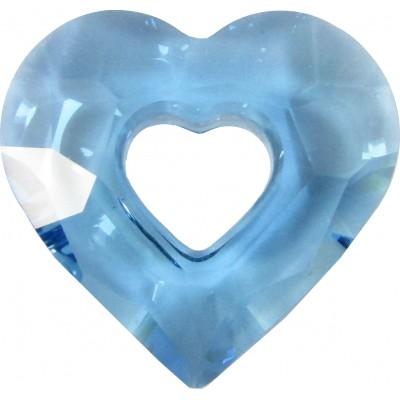 1 Swarovski Crystal Aquamarine Miss U 17mm Heart Pendant Article 6262