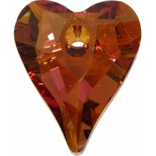 1 Swarovski Crystal Copper Wild Heart 17mm Pendant Article 6240