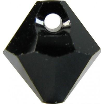 10 Swarovski Crystal Jet Top Drilled 6mm Bicone Beads Article 6301