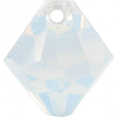 10 Swarovski Crystal 6301 White Opal Top Drilled 8mm Bicone Beads