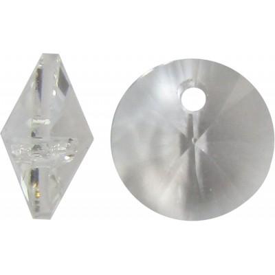 10 Swarovski Crystal Clear 6428 6mm Disc Bead/ Pendants