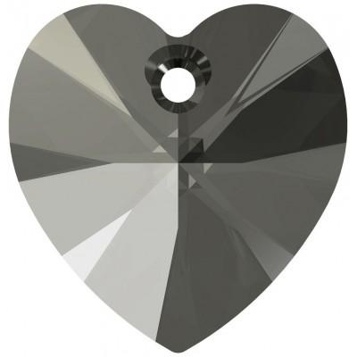 10 Swarovski Crystal Black Diamond 10mm Heart Pendants Article 6228